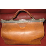 Vintage Leather Doctors Style Bag  - $81.00