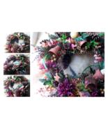 "Silk Floral Wreath Autumn's Splendor Warm Fall Colors 24"" Indoor or Fron... - $139.00"