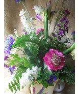 Faux Flower Arrangement Cottage Fresh Airy Spring Summer Mix Silk Flower... - $155.00