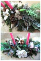 Winter Magnolia Centerpiece Victorian Ice ADD Candle Choice Designer Sil... - $117.61 CAD
