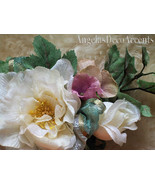 Silk Floral Corsage Freeze Dry Look Mother's Pin On Flowers Victorian Ch... - $39.00