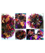 Spicey Apple Fall Wreath 18 inch Wall ~Bright Autumn Table Wreath Holiday Center - $89.00