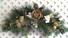 Winter Floral Swag, Hollywood Regency Swag, Christmas Glitz Pine  Wreath... - $196.89 CAD