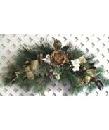 Winter Floral Swag, Hollywood Regency Swag, Christmas Glitz Pine  Wreath... - $149.00