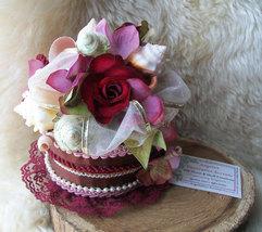 Floral Seashell Arrangement Functional Basket Chocolate Rose Box, Assorted Trims - $59.00