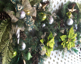 """Double Door Christmas Wreaths Ready to Ship 2 24"""" Chartreuse Velour Poin... - $500.83 CAD"""