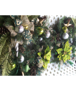 """Double Door Christmas Wreaths Ready to Ship 2 24"""" Chartreuse Velour Poin... - $379.00"""