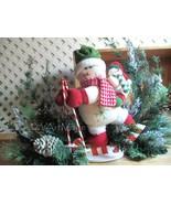 Winter Snowman Centerpiece~Designer Mantel Arrangement~Christmas Holiday... - $159.00