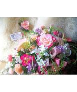 Cascading Bridal Bouquet BRIDE GROOM SET XL 16 x 25 Traditional~Salmon P... - $389.00+