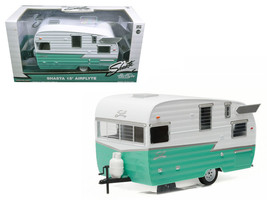 Shasta Airflyte 15' Camper Trailer Green  1/24 Scale  - $49.99