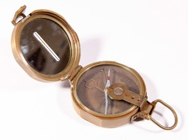 Vintage Surveyor's Compass - Solid Brass Circumferentor - Free Shipping - $74.80
