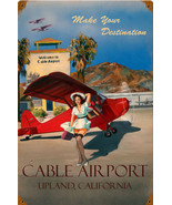 Cable Airport  Pin-Up  Metal Sign - $29.95