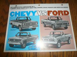 1977 Chevrolet Vs Ford Competitive Comparison No.1 - Vintage - $9.74