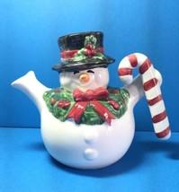"Fitz And Floyd 1991 Snowman Creamer Mini Pitcher Christmas ""Off"" Label Htf Rare - $14.99"