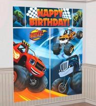 Blaze Monster Machines Truck Scene Setters Wall Decoration Kit - $6.64