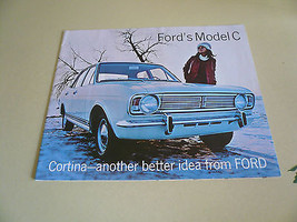 1967 68 ? Ford Cortina Model C GT Anglia Sales Brochure - $16.39