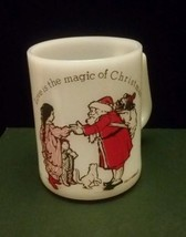 Vtg Federal Milk Glass Holly Hobbie Christmas Mug Cup American Greetings... - $18.68