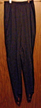 Black Stretch Knit Pants, Stirrup Pants, Womens Clothing, Size Medium Pe... - $10.00