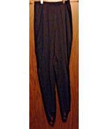 Black Stretch Knit Pants, Stirrup Pants, Womens... - $10.00