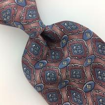 ZYLOS GEORGE MACHADO US TIE ART DECO CLASSIC Peach Blue Silk Necktie Tie... - $15.83