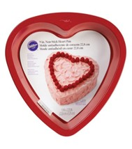"Wilton Non-stick Red 9"" Heart Cake Pan Valentines Wedding Sweet 16 - $18.99"