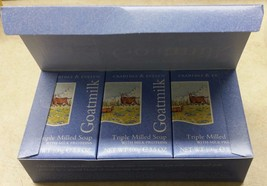 Crabtree & Evelyn GOATMILK Soaps Box of Three  ... - $39.95