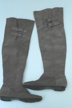 Calvin Klein Boots Suede Brown Taupe Over Knee High Boots Sz 5B - $20.29