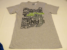 Boys Calvin Klein Jeans t shirt tee youth XL 18/20 lt grey heather 35B64049-95 - $34.64