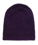 Closet Values Baby Girls 6-12 Mos. Purple Crochet Slouchy Knit Hat - $8.99
