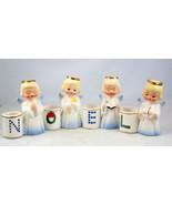 Vintage Shafford 2096 porcelain NOEL angel cand... - $30.00