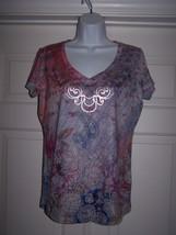 Appropriate Behavior Women's V-Neck Tee Med (8-10) Short Sleeve Gray V-N... - $9.95