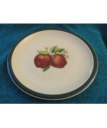 Casuals Made By China Pearl Dinner Plates Two - With Apples - $12.00