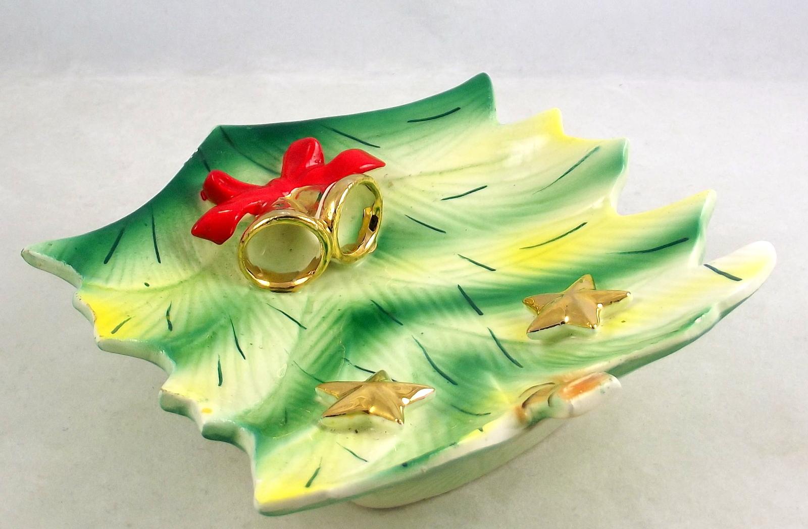 Vintage ucagco ceramic stylized funky retro christmas tree