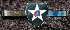 US Army 2nd Infantry Division Indian head Tie Clip - $12.95