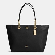Coach Light Gold/Black Polished Pebble LeatherZ... - $519.99