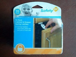 Safety 1st Cabinet & Drawer Spring Latches 10 pack Childproof Home NEW - $14.50