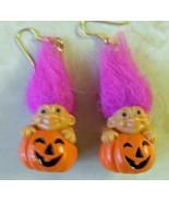 Russ Lucky Pumpkin Troll Earrings - $5.00