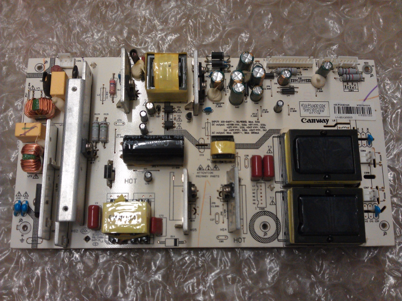 KW-PIV400102L Power Supply Board From Sceptre X405BV-FMD LCD TV
