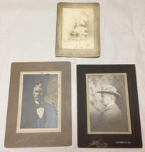 STECKEL Original Studio Photograph Carbon Plates Set of 3 Antique Black ... - $49.99
