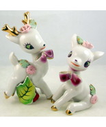 Vintage Wales porcelain Christmas deer figurine... - $30.00