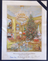 President George Bush and First Lady Barbara Bush, autographed Christmas... - $699.99