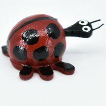 Handmade Oaxacan Wood Carving Folk Art Miniature Ladybug Bobble Head Figurine image 4