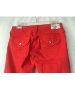 True Religion RED Disco Joey Jeans Big T Swarovski Crystal Twist Seam. S... - $99.00