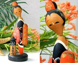 Vintage sosaku kokeshi doll japanese geisha kimono elegant woman thin thumb155 crop