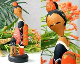 Vintage Sosaku Kokeshi Doll Japanese Geisha Kim... - $45.95