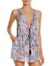 NEW Red Carter Free Spirit Spring Lace Up Romper Swim Coverup L Large $141 - $85.13