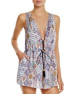NEW Red Carter Free Spirit Spring Lace Up Romper Swim Coverup L Large $141 - €74,23 EUR