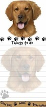 GOLDEN RETRIEVER DOG DIECUT LIST PAD NOTES NOTEPAD Magnetic Magnet Refri... - $7.99
