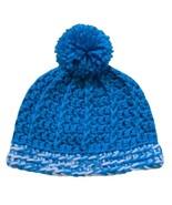 Closet Values Baby Girls 6-9 Mos. Teal Blue Crochet Pom Pom Knit Hat - $5.99