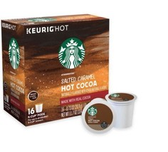 Starbucks Salted Caramel Hot Cocoa Keurig K-Cups 16-count BRAND NEW - $27.94